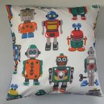"Cushion Cover in Cath Kidston Robots and Blue Spot 14"" 16"" 18"" 20"""